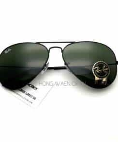 Aviator Black ORB3025 L2823 Size 58